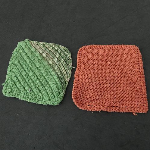 2 guenilles tricotées