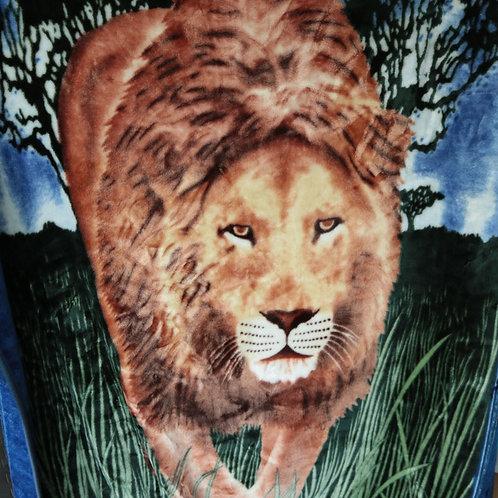 Très grande couverture douce Lion