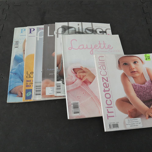7 livres-revues tricot