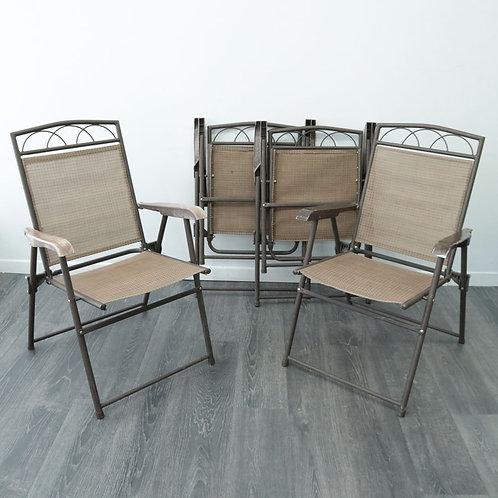 4 chaises d'extérieur