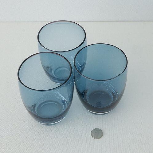 3 verres bleus
