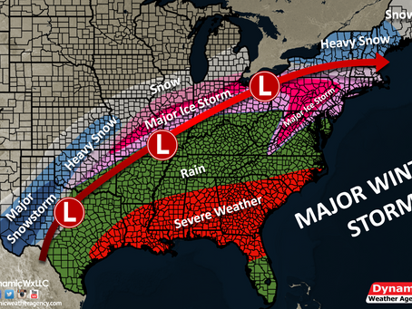 Upcoming Major Snowstorm & Major Ice Storm, Plus Severe Weather