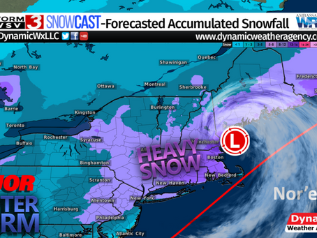Major Winter Storm System To Bring Heavy Snowfall To The Mid-Atlantic and Northeast
