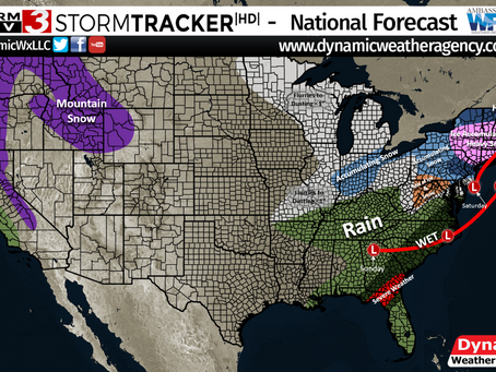 Next Winter System & Heavy Rain for the Pacific NW and for the SE/Mid Atlantic Region