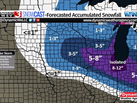 January 30th- February 3rd Major Winter Storm Forecast Verification