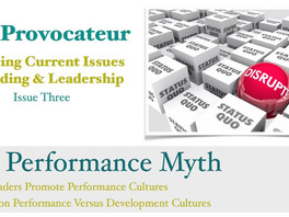 The case for a development culture - The Performance Myth
