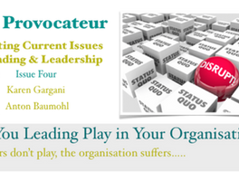 Are You Leading Play in Your Organisation? If leaders don't play, the organisation suffers…..