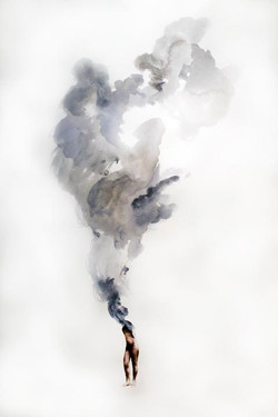 Hinkle, Smoke Pt. 2, 2014, india ink and polyfilm on arches cover paper, 18x24.j