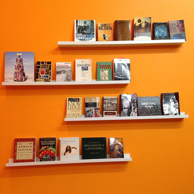 Reading section in The Kentifrican Museum of Culture installation in DTLA