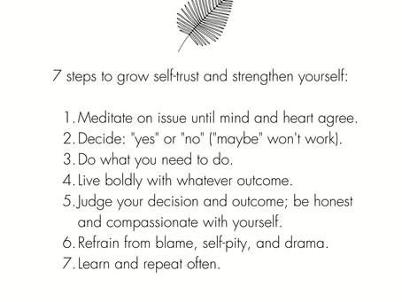 How To Grow Self-Trust