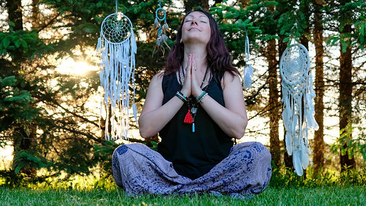 Christine Martin practices restorative yoga with reiki to enhance meditation and bring calm to your mind.