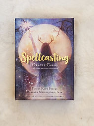 Spellcasting oracle cards teach you to work the moon phases, specific weekdays and candle magin in conjunction with unwavering focus and intent through invocation and incantations.
