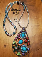Maple Hill Market offers unique one of a kind necklaces. Some have crystals and others have diffuser beads that can be used with essential oils.
