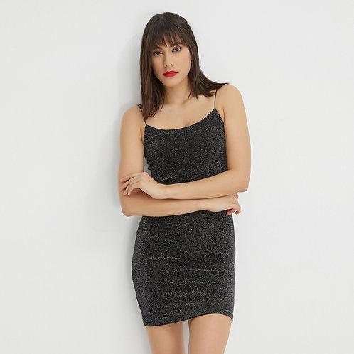 Simli Mini Elbise