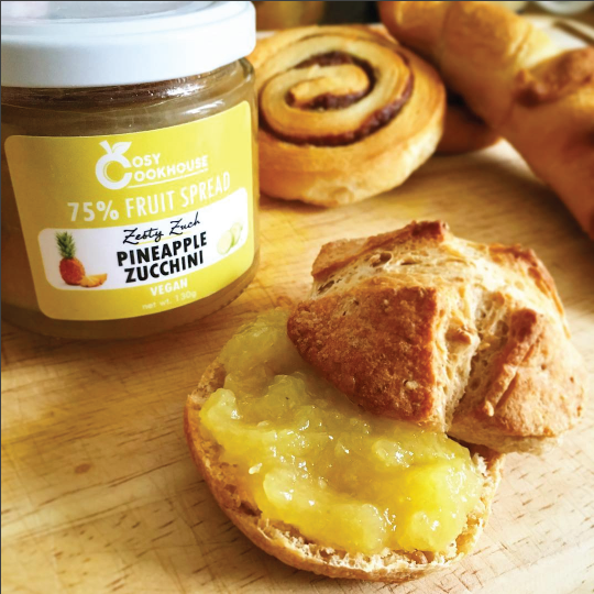 Zesty Zuch - 75% Fruit Spread - Mix of Pineapple & Zucchini