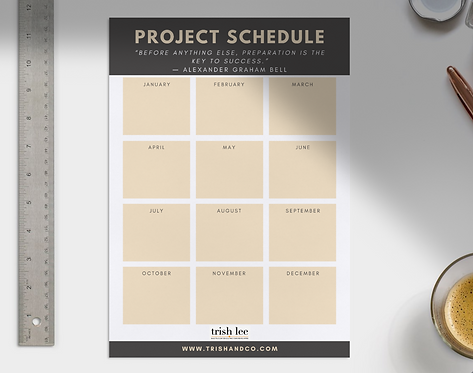 Annual Project Planner For Success