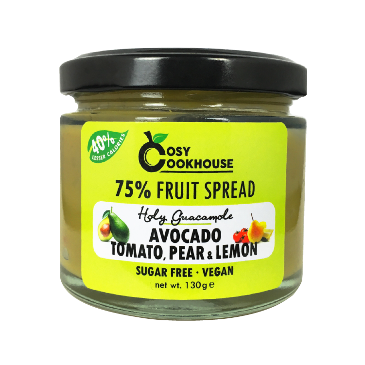 Holy Guacamole - 75% Fruit Spread - Mix of Avocado, Tomato, Pear & Lemon (no added sugar)