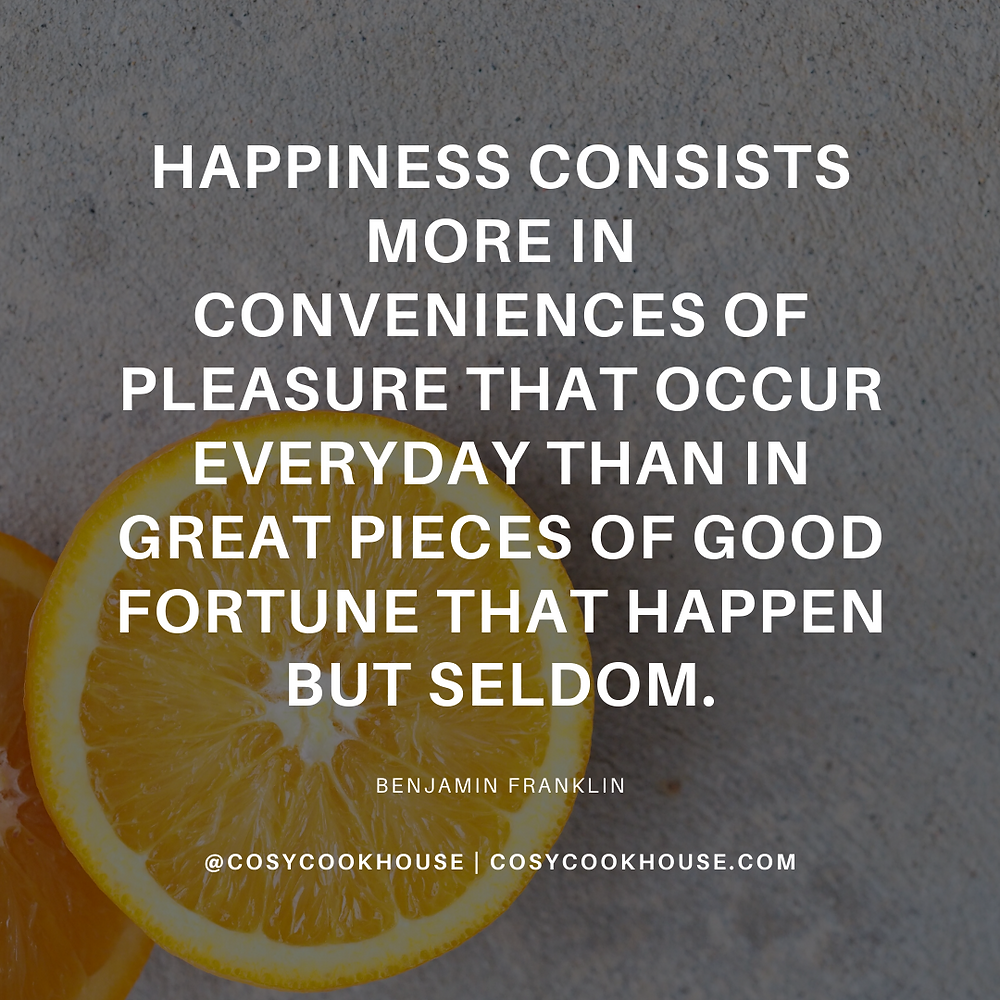 happiness consists more in conveniences of pleasure that occur everyday than in great pieces of good fortune that happen but seldom