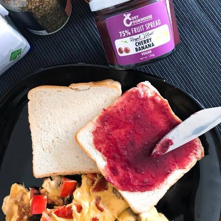Breakfast Inspo - Royal Velvet (Cherry Banana) & Toast