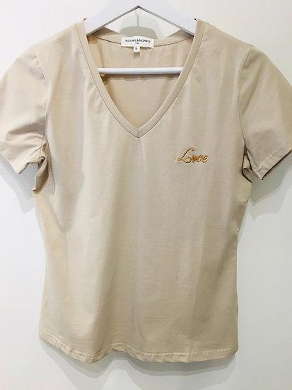 Tee shirt Love beige
