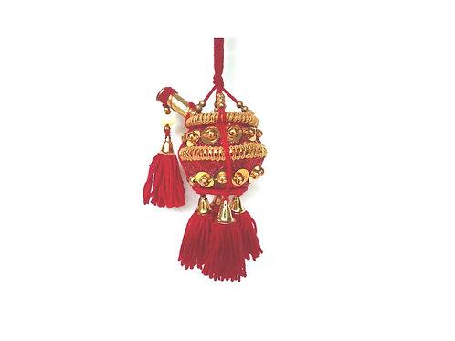 Krishna Butter Pot | Wall Hanging Beads Work Good Finished Fancy Uri