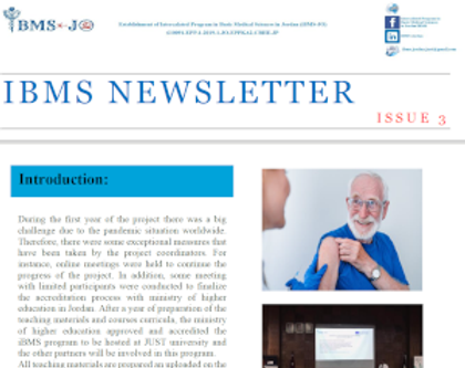 The 3rd newsletter for the iBMS-JO project has been published