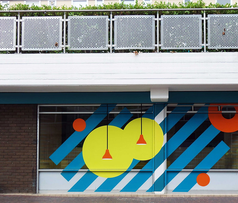 University Wes of Egland UWE Courtyard Refurbishment Window manifestatio Graphic