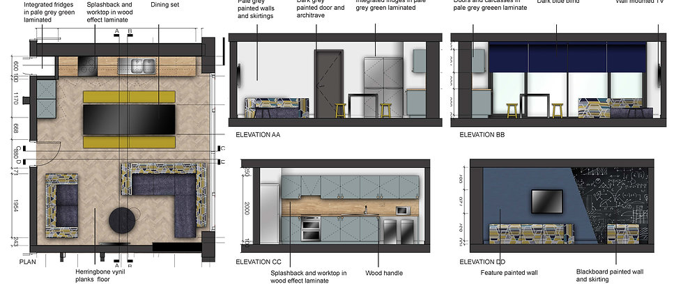 Plan and Elevations Student Accommodations