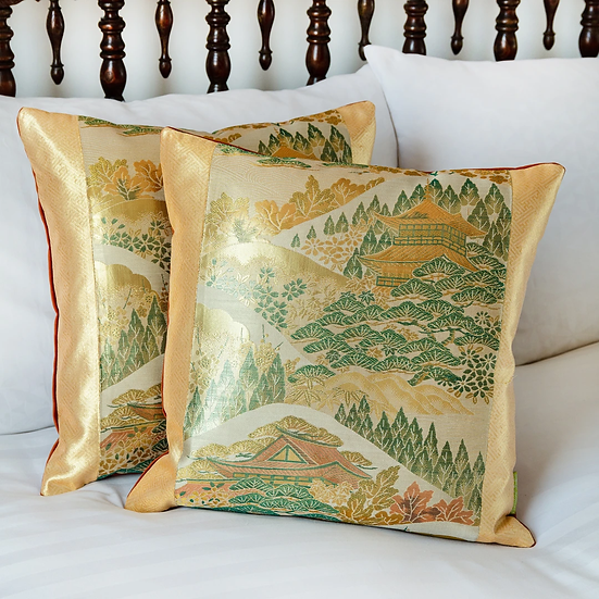 HUNTED AND STUFFED: Vintage Silk Obi Cushions