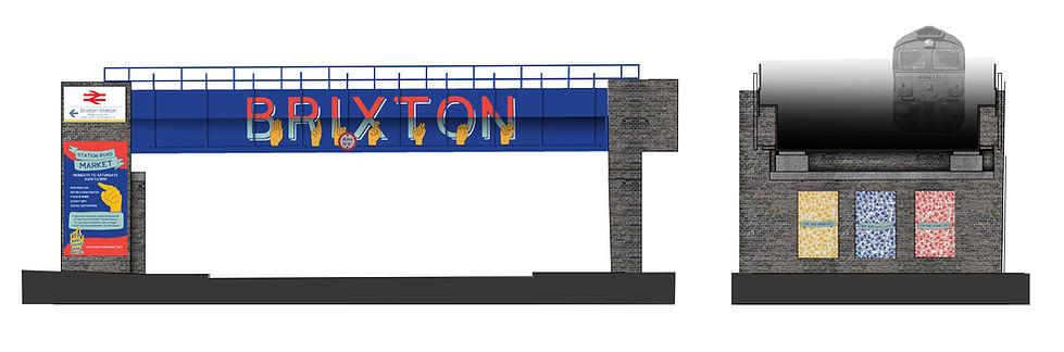 Elevation Brixton Design Trail Bridge competition Brixton