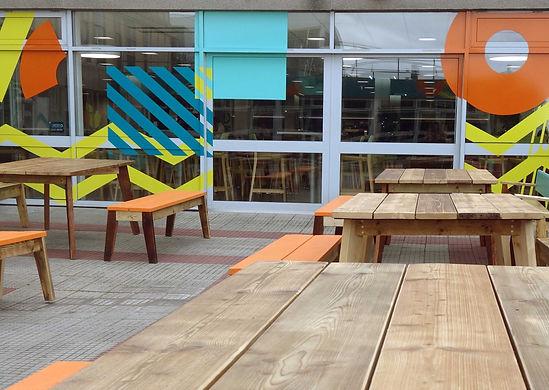 UWE University west of England Vestre furniture Bristol Wood recylcing project