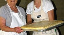 Authentic Greek Food Prep Underway