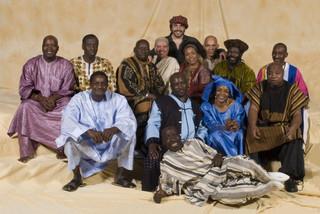 "Dee Dee Bridgewater's ""Red Earth: A Malian Journey"" album recording project. Edsel Gomez (center) pianist, arranger, co-composer"