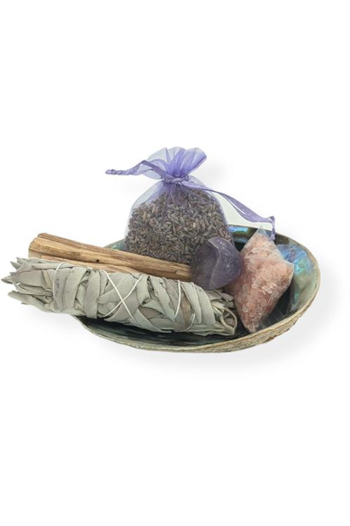 Deluxe Lavender & Sage Smudge Kit