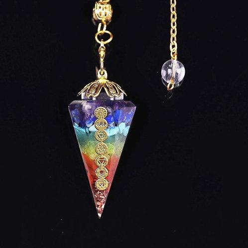 7 Chakra Crystal Pendulum