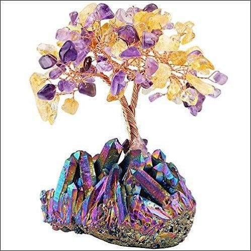 Amethyst and Citrine Crystal Bonsai Tree