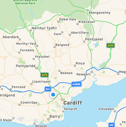 Map of Laptop Repair South Wales