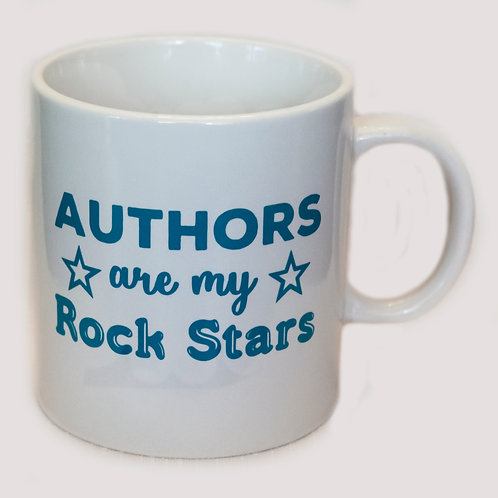 "20 oz ""Authors are my Rock Stars"" mug (White)"