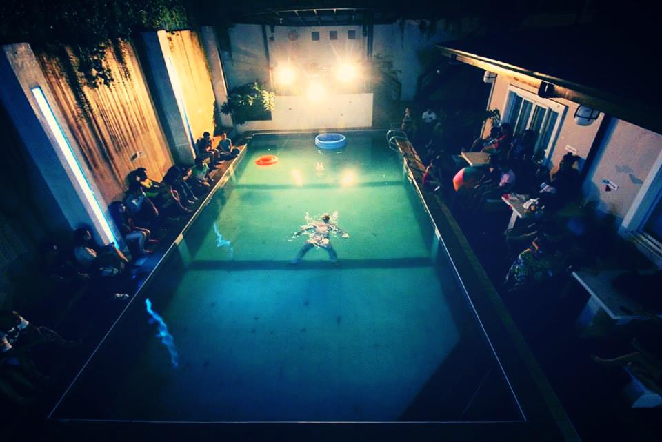 LoveNot, 2014. Floating performance.