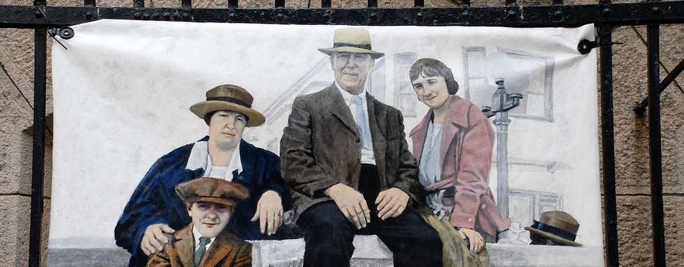 """""""Trip to Long Beach- The artist's grandparents, father and aunt circa 1920"""""""" - Frank Sabatté"""