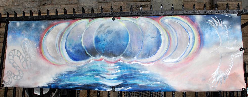 """Lunar night sea rainbow"" - Maria Negulescu"