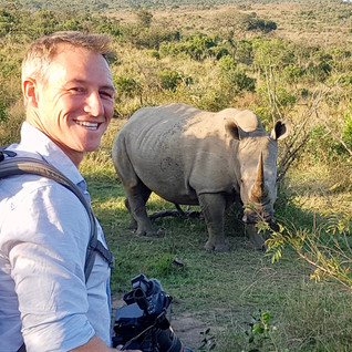 James Glancy Walking with Rhinos