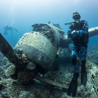 James Glancy WW2 Plane Wreck in Palau