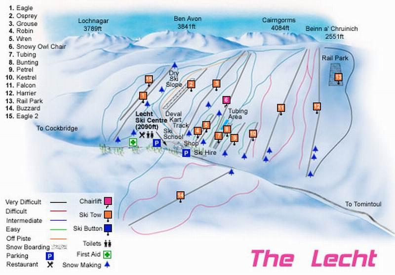 Lecht piste map