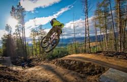 Mountain bike trail in Glenlivet