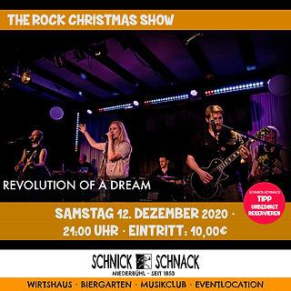 """Die Band mit Frontfrau Lisa Schönherr bietet dem Publikum Rockklassiker modern interpretiert. Songs bekannter Interpreten wie AC/DC, Deep Purple oder Judas Priest fügen sich harmonisch in die Eigenkompositionen ein und sorgen für ein abwechslungsreiches Programm. Das Projekt """"Revolution of a Dream"""" (R.o.a.D.) verbindet sechs junge Musiker aus dem Großraum Rastatt, die mit prägnanten Drums, vollen Basslines, harten Riffs und ausgefeilten Soli den Songs ihren eigenen R.o.a.D.-Charakter verleihen. Freuen Sie sich auf einen unterhaltsamen Abend, der das Rockerherz höher schlagen lässt!"""