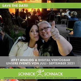 Analog und Digital verfügbar unsere Sommer-Events 2021