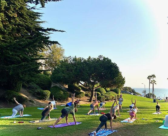 Yoga in the park Linda Lane San Clemente