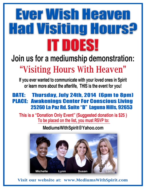 Visiting Hours with Heaven