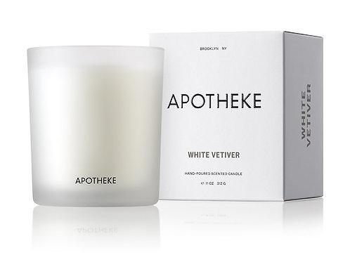 APOTHEKE WHITE VETIVER CANDLE